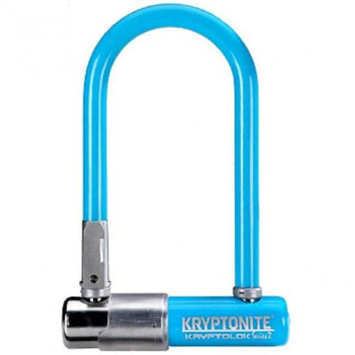 Велозамок KRYPTONITE U-Lock Kryptolok Mini-7 W/FlexFrame-U Bracket Light Blue 02017